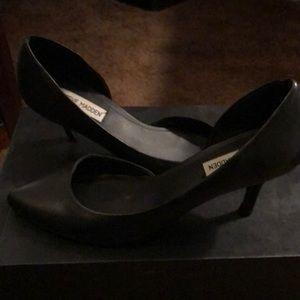 Black Steve Madden Elusive kitten heel pumps